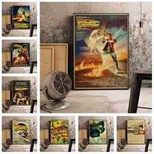 Movie Poster Back To The Future Poster Vintage Decorative Poster Print Hd Art Decor Nursery Kids Room Canvas Painting K399 Aliexpress
