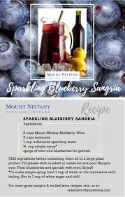 sparkling blueberry sangria two sided