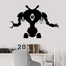 Classic Robot Toy Wall Decal Machine Engineering Electronics Mechanics Vinyl Sticker Unique Wall Decor Art Play Game Room Lc1035 Wall Stickers Aliexpress
