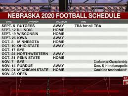 Nebraska 2020 Football schedule announced