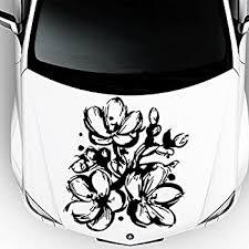 Amazon Com Car Decals Hood Decal Vinyl Sticker Sakura Flower Floral Auto Decor Graphics Os105 Automotive