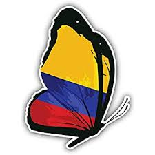 Amazon Com Jjh Inc Colombia Flag Butterfly Vinyl Decal Sticker Waterproof Car Decal Bumper Sticker 5 Kitchen Dining