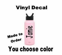 Personalize Name Vinyl Decal Sticker Customize Water Bottle Hydro Mirror Decor Ebay