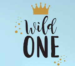 Wall Decal For Kids Wild One Where The Wild Things Are Theme Room Crown Design Vinyl Wall Art And Decor For Children S Bedroom Customvinyldecor Com