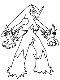 Blaziken Legendary Pokemon Coloring Page Free Printable Coloring