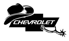 Chevrolet Cowboy Decal Sticker