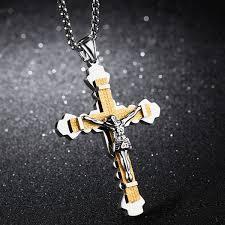 whole cross pendant necklace