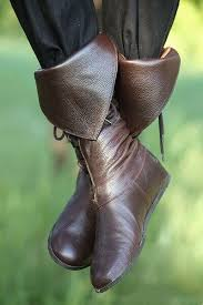 boots leather lace up tall boot