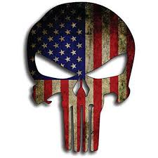 Punisher Skull American Flag Vinyl Decal Stickers Car Truck Sniper Marines Army Navy Military Jeep Graphic 5 X 7 Walmart Com Walmart Com