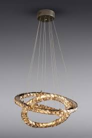 smoke coronas led ring 5 light pendant