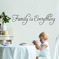 Amazon Com Wovtcp Family Is Everything Wall Decal Quotes Family Home Decor Vinyl Wall Decals Kitchen Dining