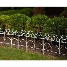 Garden Accents Common 1 In X 19 1 In X 14 In Actual 0 2 In X 96 In X 14 In Fence 1 Pack White Metal In The Garden Fencing Department At Lowes Com