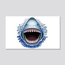 Megalodon Shark Jaws Teeth Sea Ocean Animal Fossil Wall Decals Cafepress