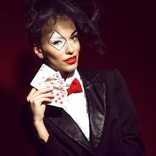 clown makeup play woman stock