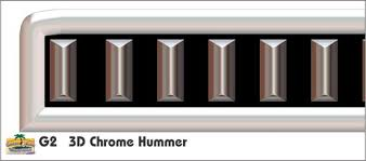 G2 Chrome Hummer Golf Car Grill Decal Grill Kits