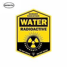 Hotmeini 13cm X 9 3cm Water Radioactive Car Sticker Do Not Drink Decal Waterproof Window Accessories Car Stickers Aliexpress