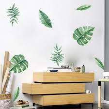 sanume diy tropical leaf wall decals