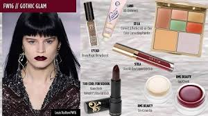 fall 2016 makeup trends gothic glam