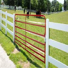Powder Coated Metal Livestock Fence Panels Farm Cattle Rail Double Gate For Sale Cattle Yard Panels Manufacturer From China 108329139