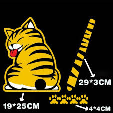 Rear Window Car Decals Cat Stickers Life Changing Products