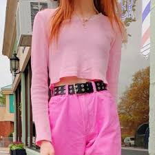 light pink Sonia Rose Top from brandy Melville John... - Depop