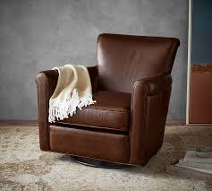 irving leather swivel glider polyester