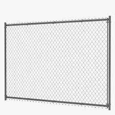 Chain Link Fence 3d Model 29 Obj Fbx 3ds Max Free3d