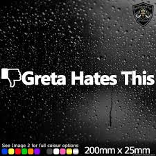 Greta Hates This Car Sticker Decal Vinyl Fb Thumbs Down Thunberg Jdm Dub Diesel Archives Statelegals Staradvertiser Com