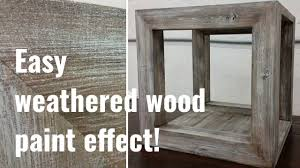 Simple To Follow Barnwood Paint Effect Tutorial Youtube