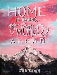tolkien quotes home is behind
