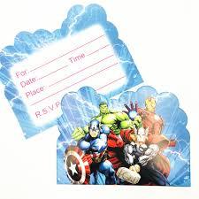 10 Unids Avengers Tematicas Invitaciones De Cumpleanos Partyware