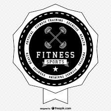 fitness sports logo free vector