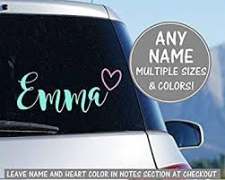 Cursive Name Sticker For Car Heart Decal For Car Calligraphy Decal Personalized Name Decal Glitter Decal Car Vinyl Decal Name Decal Sticker Amazon Co Uk Diy Tools