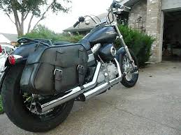 distressed leather saddlebags for dyna