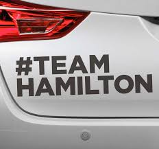 Teamhamilton Car Sticker Tenstickers