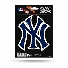 New York Yankees Logo Words Decal Sticker 16 X2