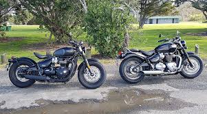 triumph bonneville bobber black and