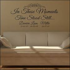Wall Sticker Quote In These Moments Time Stood Still Personalised Decal Ebay