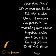 dear best friend life wit quotes writings by sanjay sutriya