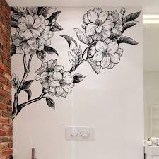 Flower Peel And Stick Wall Decals The Treasure Thrift Floral Wall Decals Flower Wall Decor Floral Wall Sticker