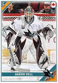 Amazon.com: 2019-20 Topps NHL Stickers Hockey #403 Aaron Dell San ...