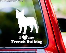 I Love My French Bulldog 6 X 5 5 V1 Vinyl Decal Sticker Frenchie Puppy Minglewood Trading