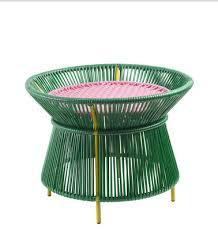 ames caribe basket coffee table green