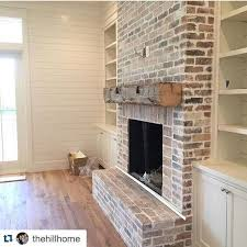 gorgeous natural brick fireplace ideas