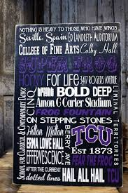 Tcu College Subway Art Sign On Wood Or Canvas Frog Wall Art Sign Art Subway Art