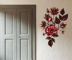 Floral Flower Vinyl Wall Decal Floralfloweruscolor084 Contemporary Wall Decals By Vinyl Disorder Inc