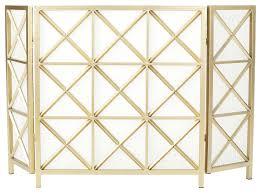 paneled iron fireplace screen
