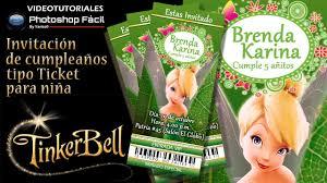 Tarjetas Invitacion Fiesta Tinkerbell Yana By Yana Creativa