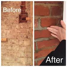 clean a 100 year old brick wall