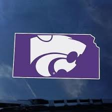 Kansas State Wildcats Statefill Car Decal 2007009 K State Super Store